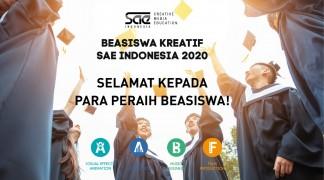 Pengumuman Peraih Beasiswa Kreatif SAE Indonesia 2020